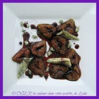 Figues noires rôties au Bleu d'Auvergne